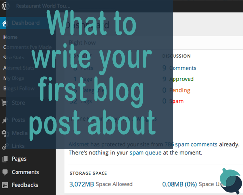 what to write your first blog post about
